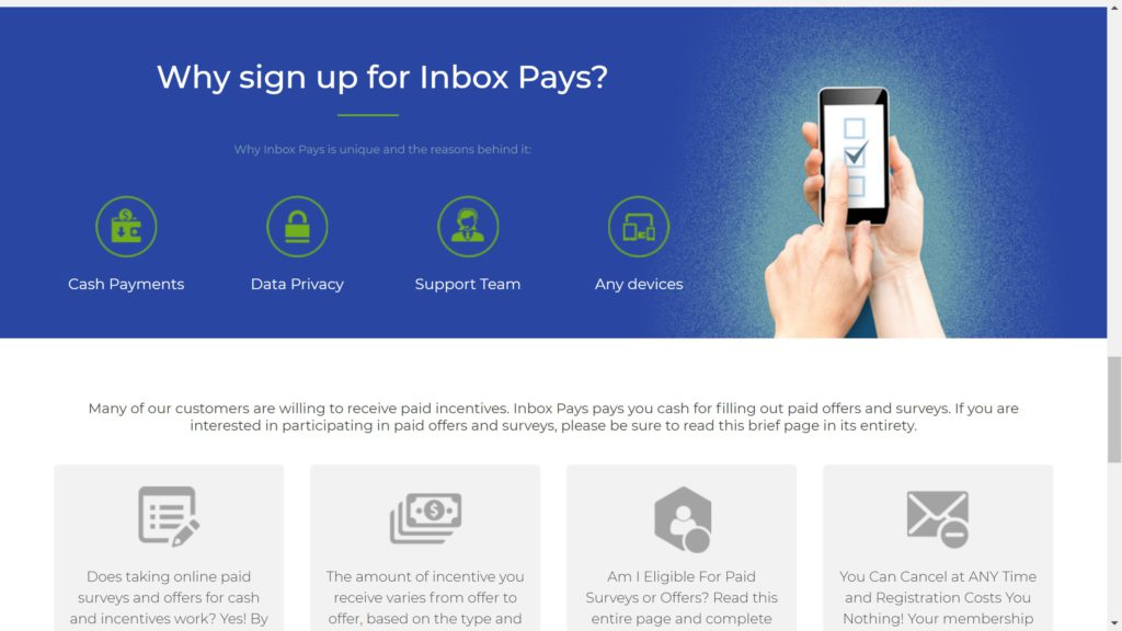 reasons to sign up for inboxpays